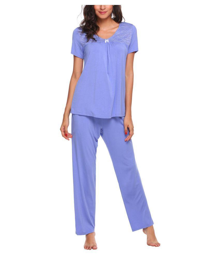 Generic Cotton Pajamas - Blue