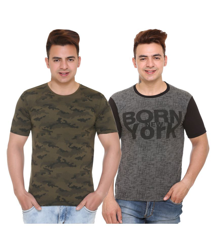 Shaun Multi Half Sleeve T-Shirt Pack of 2