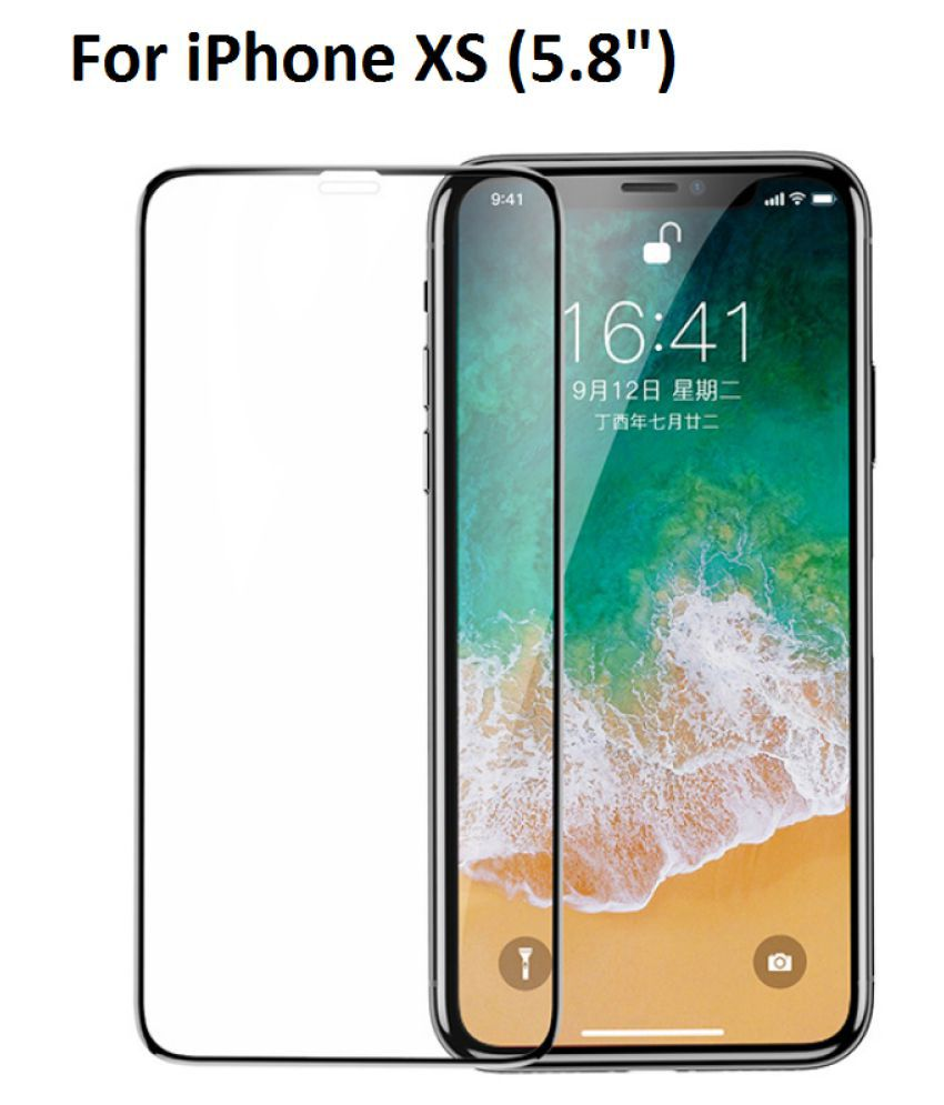 Apple iPhone XS 5D Tempered Screen Guard By FIRSTGEAR iPhone XS 5.8