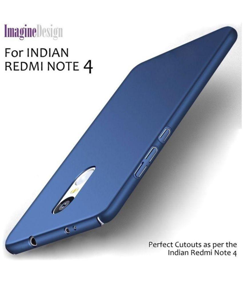 brand new 25836 f8ce5 Xiaomi Redmi Note 4 Plain Cases Wow Imagine - Blue