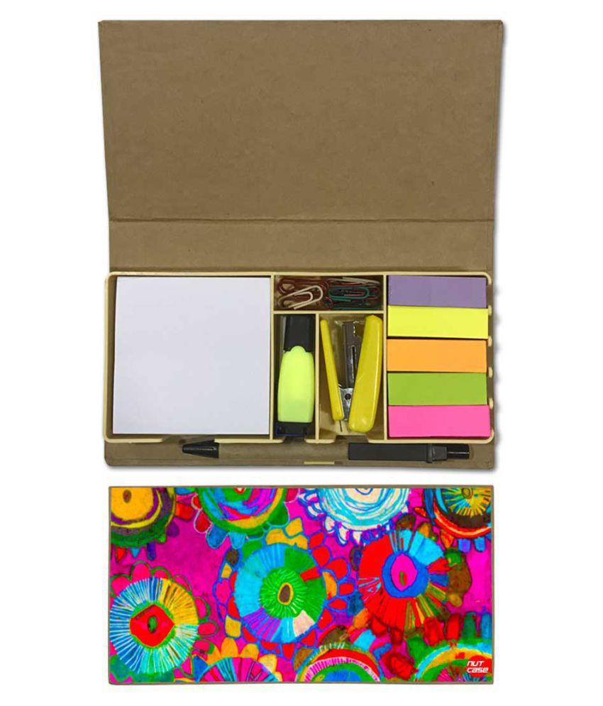 Nutcase Designer Stationary Kit Desk Customised Organizer Memo Notepad - Beautiful Design