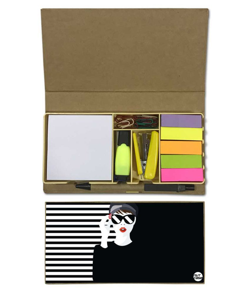 Nutcase Designer Stationary Kit Desk Customised Organizer Memo Notepad -  Cool Sexy