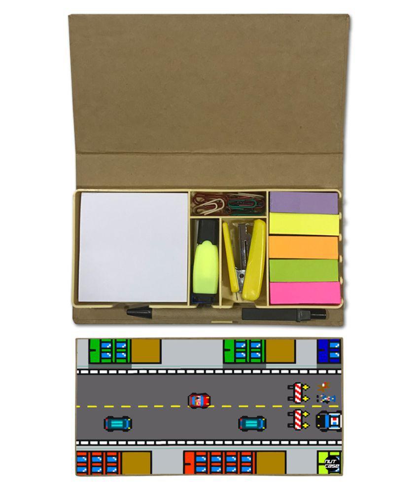 Nutcase Designer Stationary Kit Desk Customised Organizer Memo Notepad - Racing