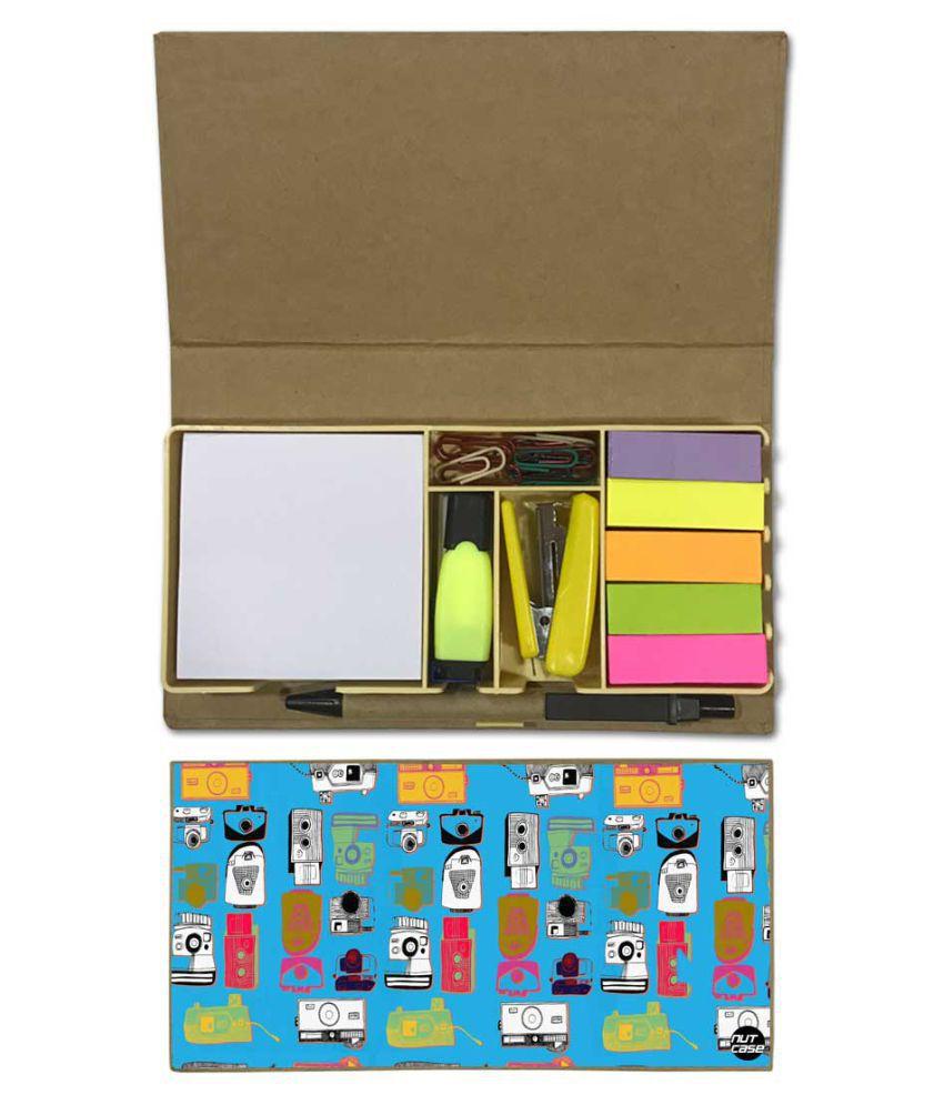 Nutcase Designer Stationary Kit Desk Customised Organizer Memo Notepad -  Camera