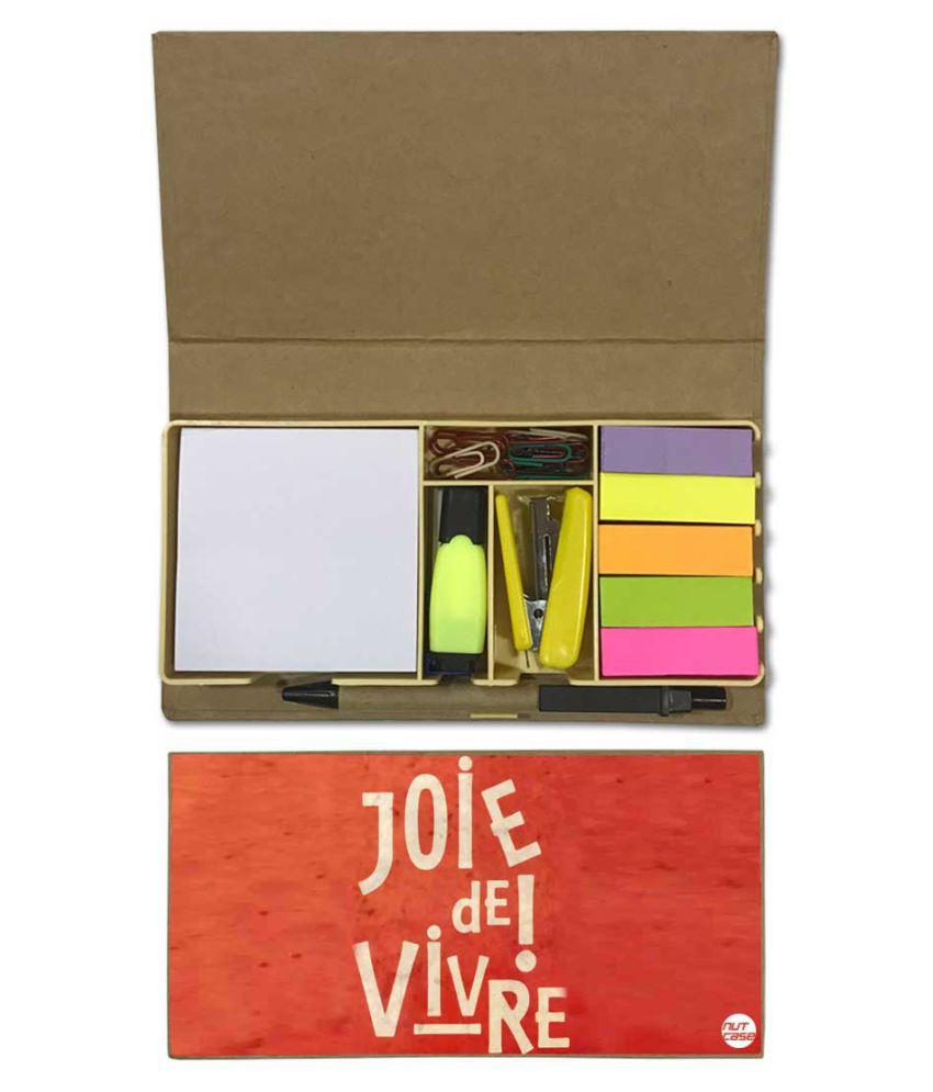 Nutcase Designer Stationary Kit Desk Customised Organizer Memo Notepad - Joie DE Vivre