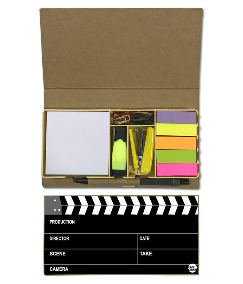 Nutcase Designer Stationary Kit Desk Customised Organizer Memo Notepad - Filmy