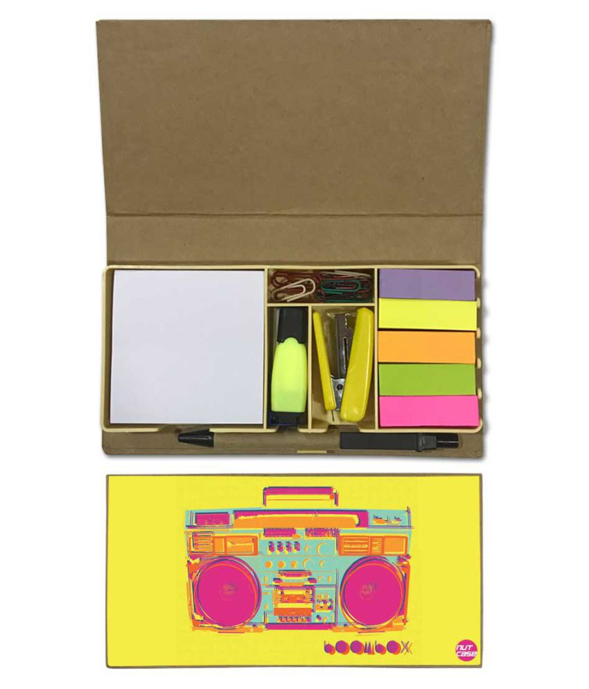 Nutcase Designer Stationary Kit Desk Customised Organizer Memo Notepad - Radios