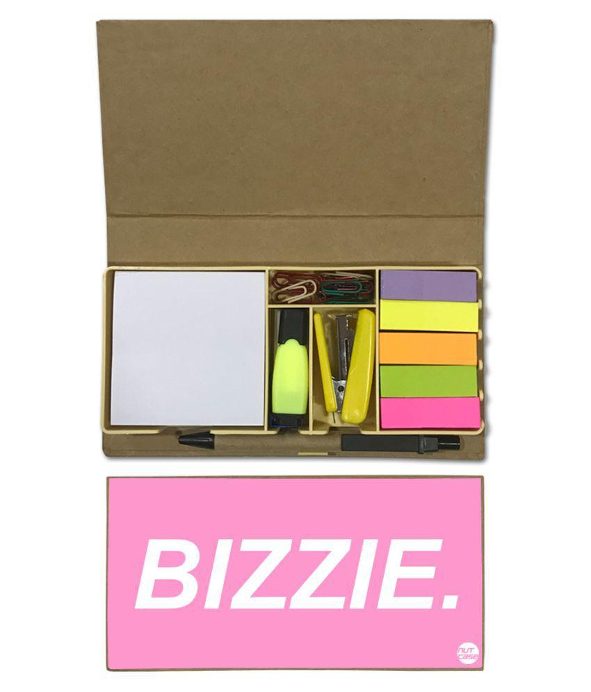 Nutcase Designer Stationary Kit Desk Customised Organizer Memo Notepad - Bizzie