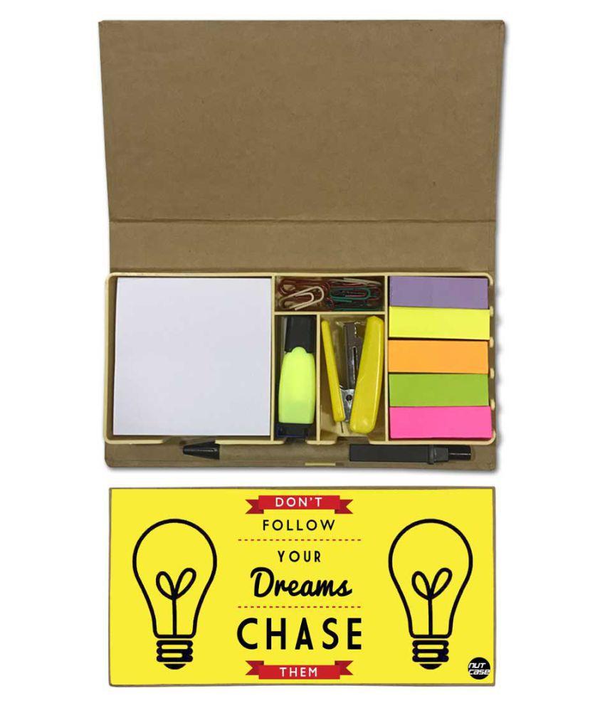 Nutcase Designer Stationary Kit Desk Customised Organizer Memo Notepad - Don't Follow