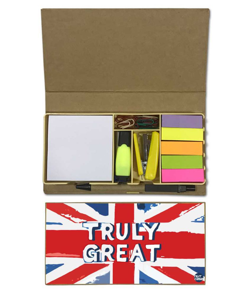 Nutcase Designer Stationary Kit Desk Customised Organizer Memo Notepad - Truly Great