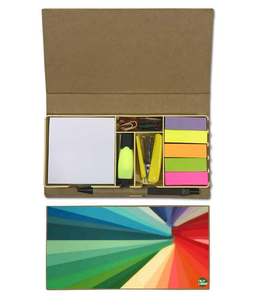 Nutcase Designer Stationary Kit Desk Customised Organizer Memo Notepad - Colors