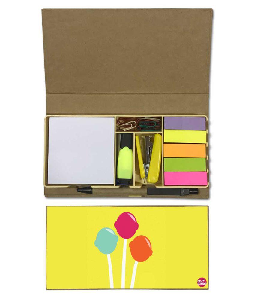 Nutcase Designer Stationary Kit Desk Customised Organizer Memo Notepad - Lollipop