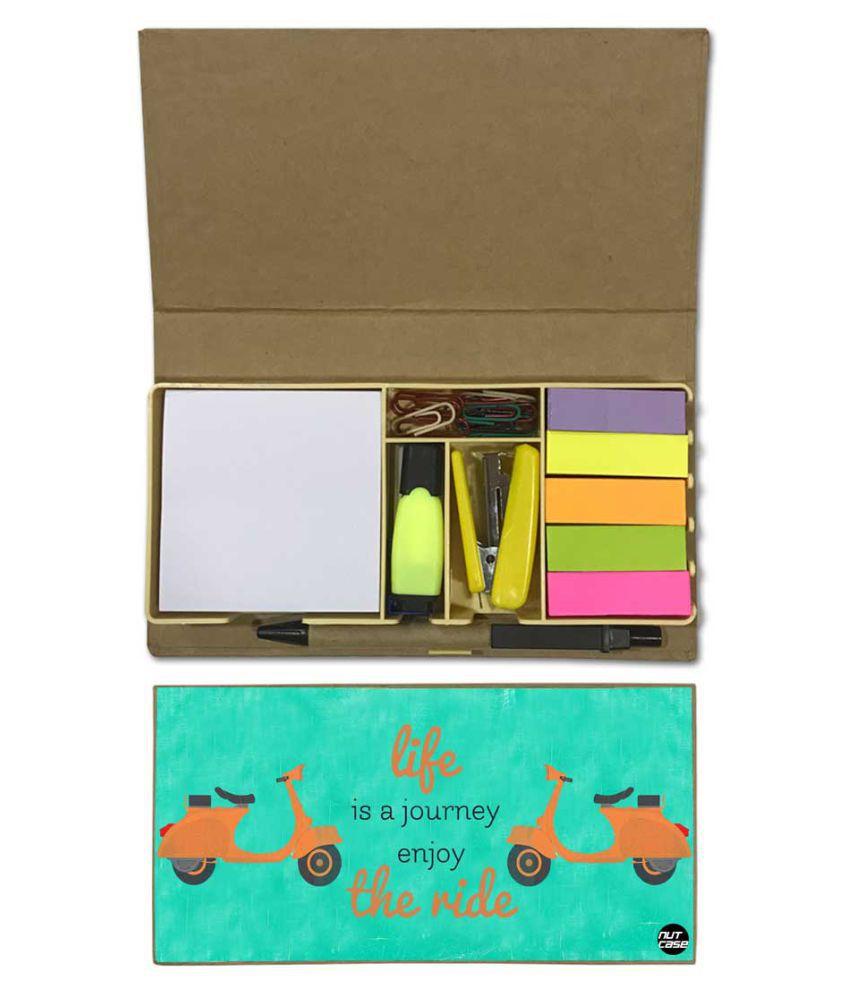 Nutcase Designer Stationary Kit Desk Customised Organizer Memo Notepad - Life Is Journey