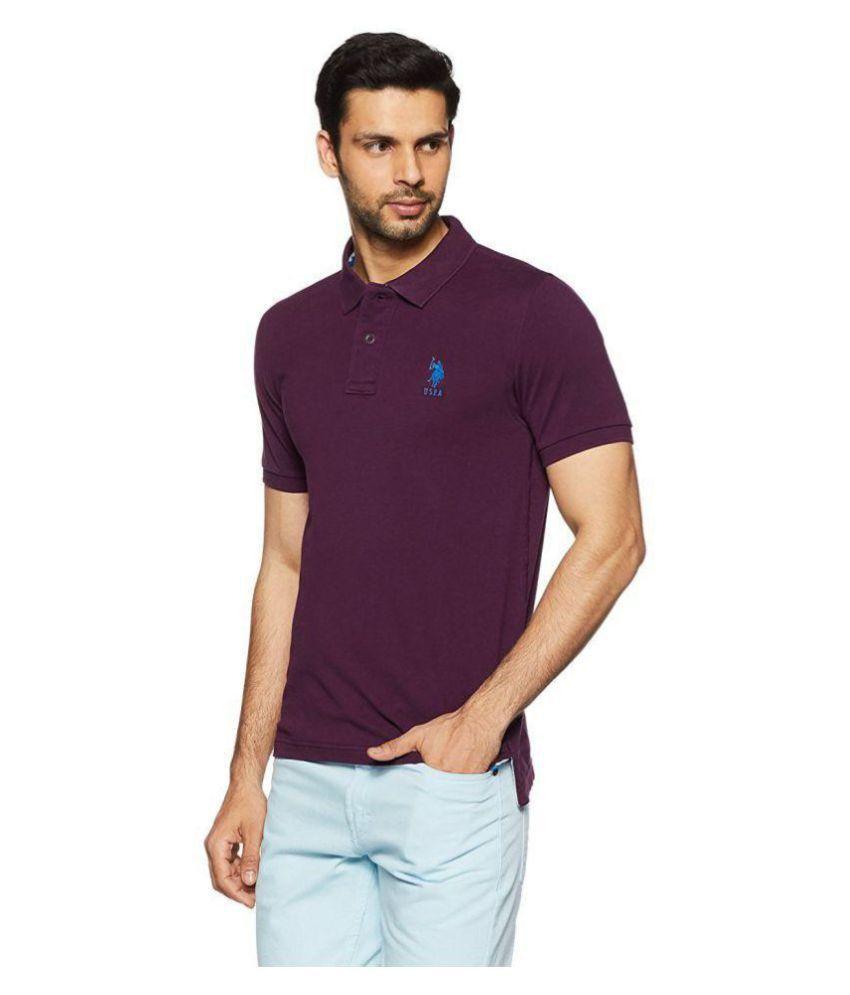 0fd107582 U.S. Polo Assn. Purple Regular Fit Polo T Shirt