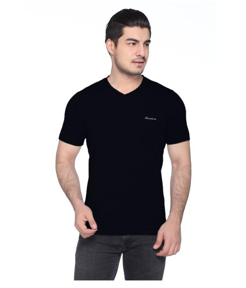 Black Buck Black Half Sleeve T-Shirt