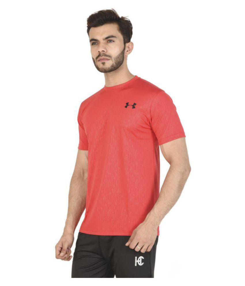 HUMAN CLOTHES Red Half Sleeve T-Shirt