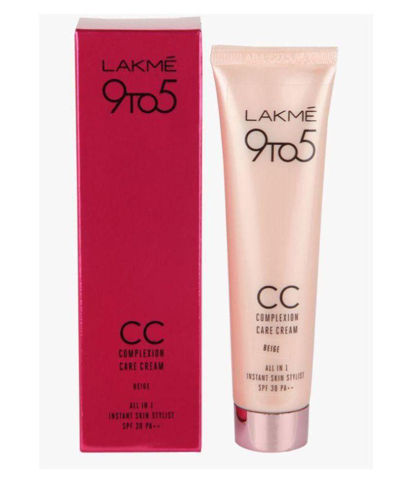 Lakme 9 To 5 CC Complexion care cream Day Cream 30 ml: Buy