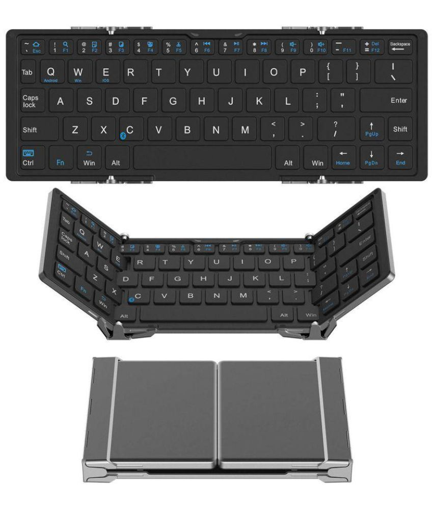 untech trifold pro ultra slim design bluetooth aluminium keyboard