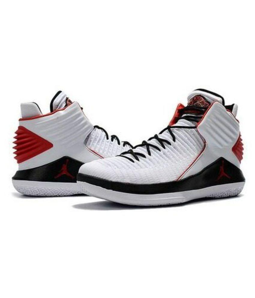 super populaire 32aa2 3d9e9 Nike Air Jordan 32 White Basketball Shoes