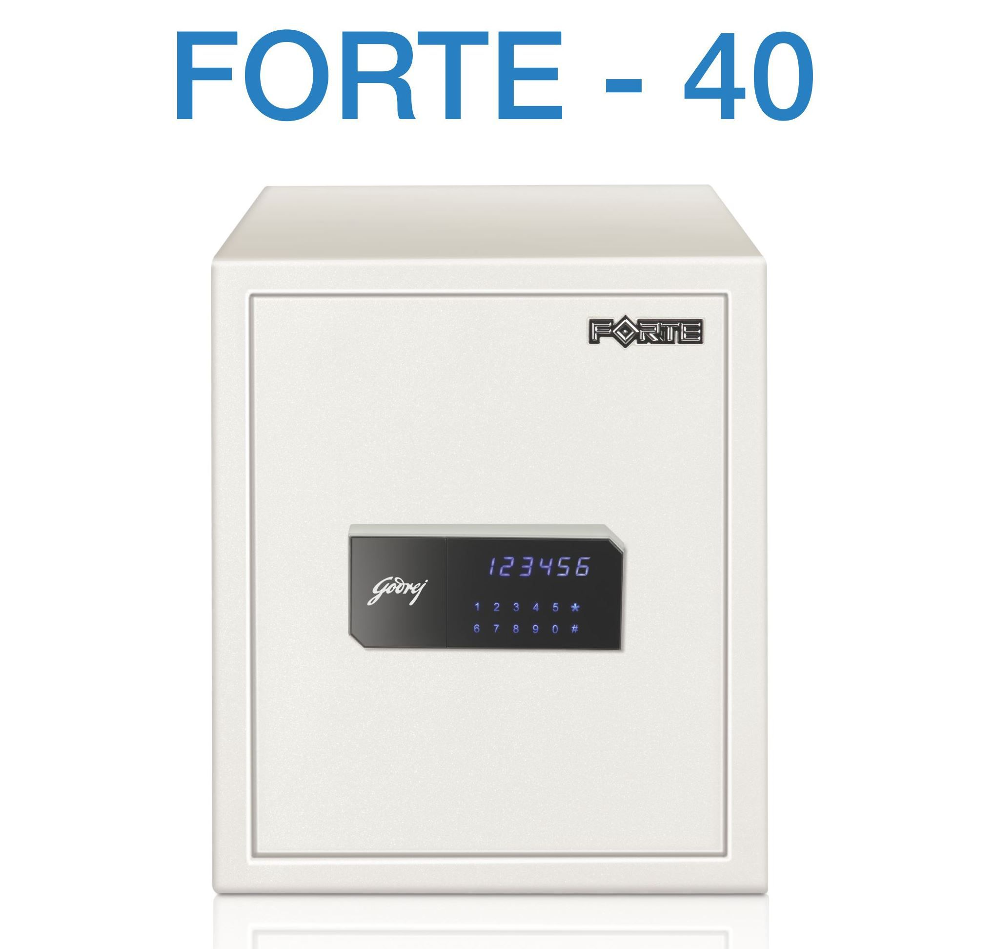 Godrej Forte 40 Steel Safe (White) FREE DEMO