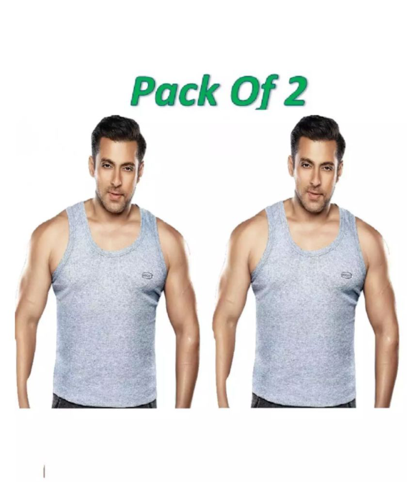 46da6d3be00f4e Dixcy Scott Grey Sleeveless Vests Pack of 2 - Buy Dixcy Scott Grey Sleeveless  Vests Pack of 2 Online at Low Price in India - Snapdeal