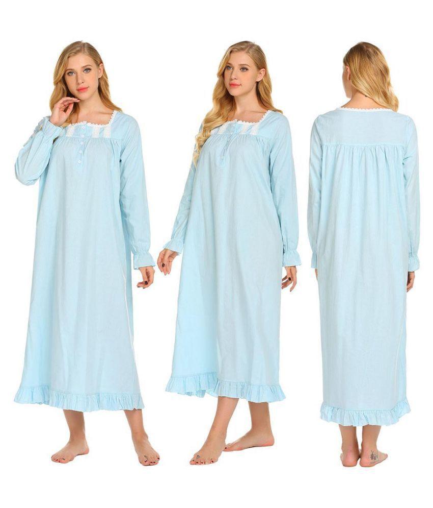 Generic Lace Nightsuit Sets - Blue
