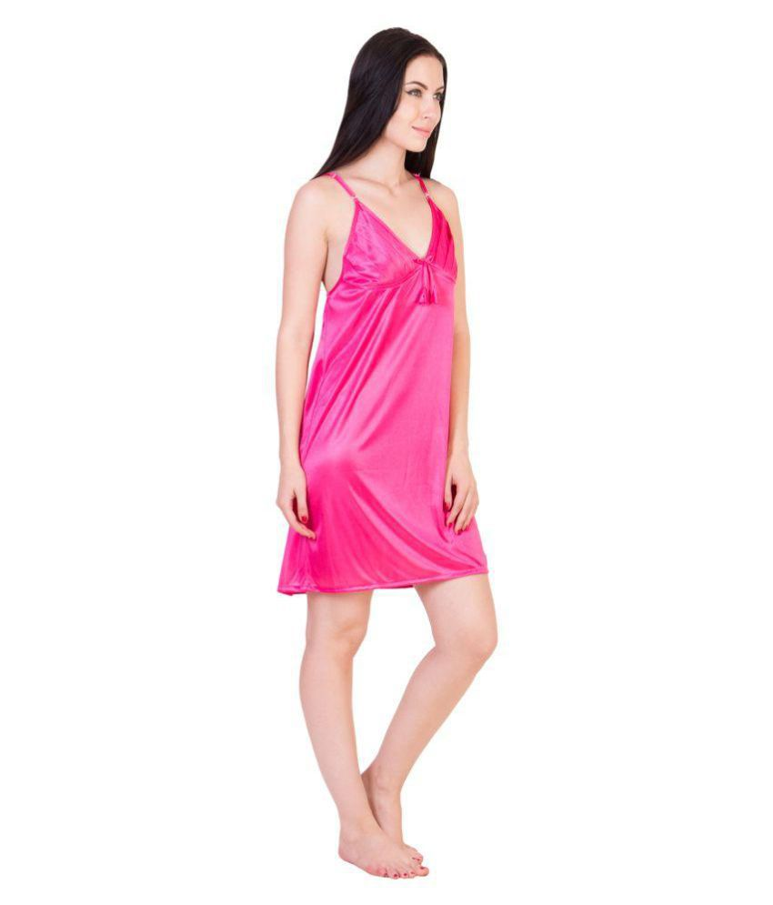 Buy Kissero Silk Baby Doll Dresses Without Panty - Pink Online at ... 5c895ea22