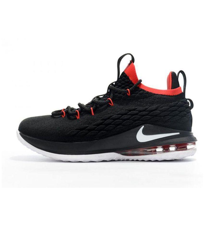 06f84693ec3 Nike LeBron 15 Black Basketball Shoes - Buy Nike LeBron 15 Black ...
