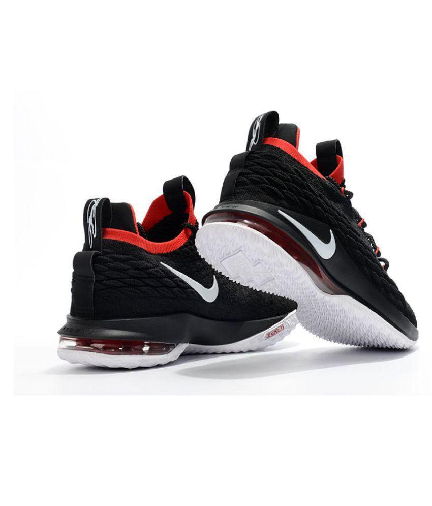 Nike LeBron 15 Black Basketball Shoes - Buy Nike LeBron 15 Black ... c3d1ac9f3