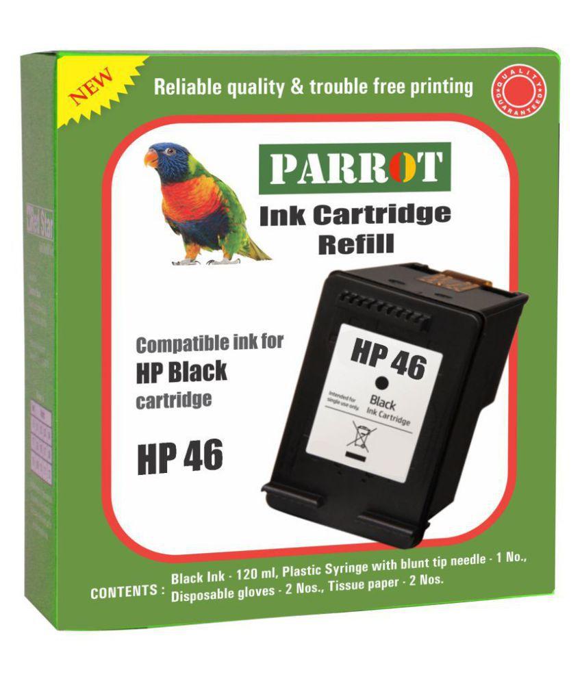 Parrot cartridge refill for HP 46 Black ink cartridge ...