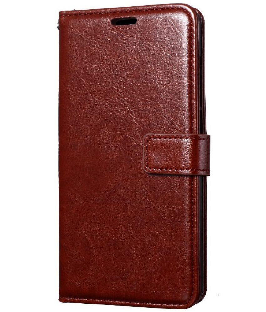 Samsung J7 NXT Flip Cover by ClickAway - Brown