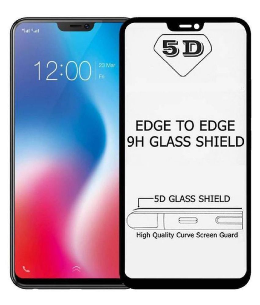 quality design c59de ab1ad iPhone 8 Plus Tempered Glass Screen Guard By Head Kik Edge To Edge Full  Screen Cover 5D Tempered Glass