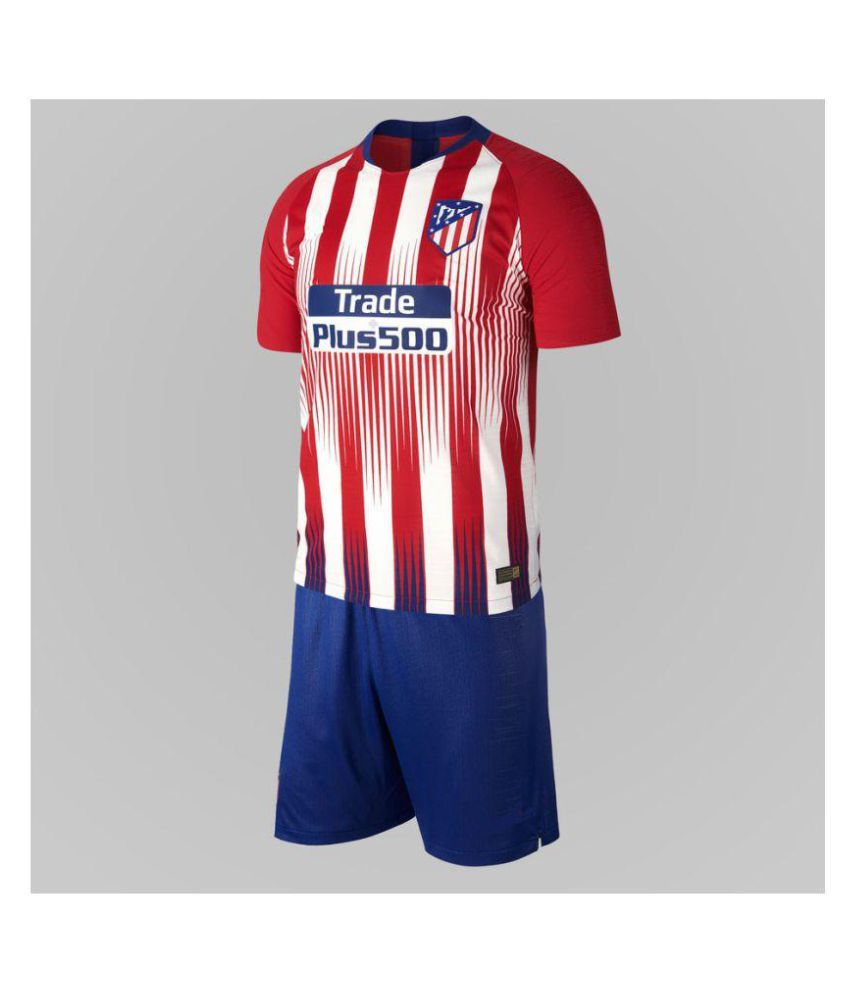 ATLETICO HOME KIT JERSEY WITH SHORTS 2018-19
