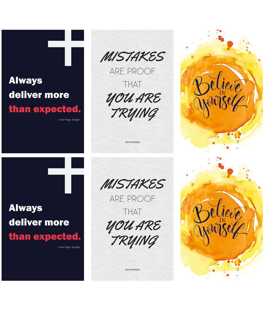 Motivatebox 6 posters Paper Art Prints Without Frame  Buy ... c67cfc43c5327