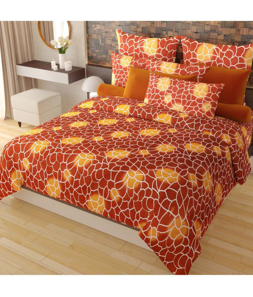 Home Candy Cotton Double Bedsheet with 2 Pillow Covers