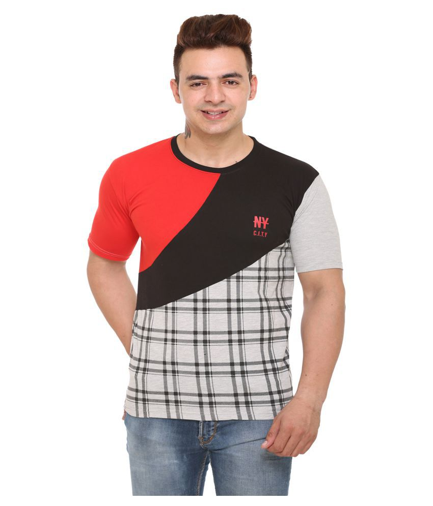 Shaun Red Half Sleeve T-Shirt Pack of 1
