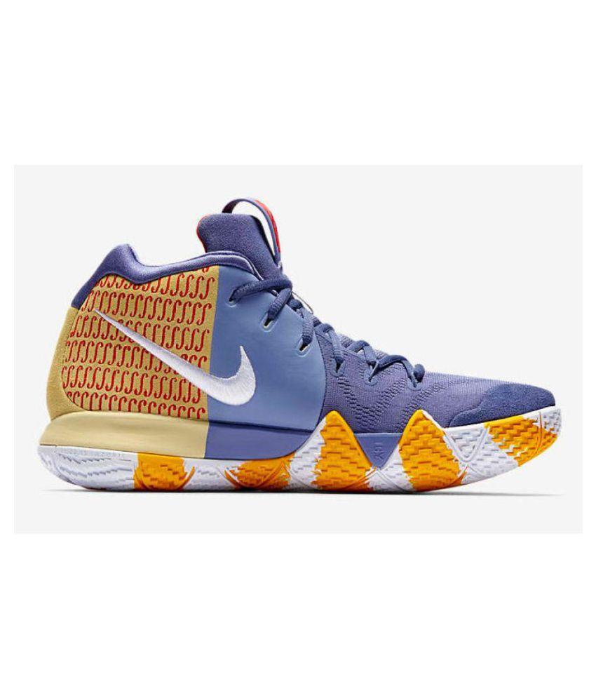 sports shoes 72ec3 ba979 Nike Kyrie 4 Gray Yellow Running Shoes Gray