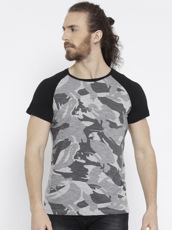 Teesort Grey Half Sleeve T-Shirt