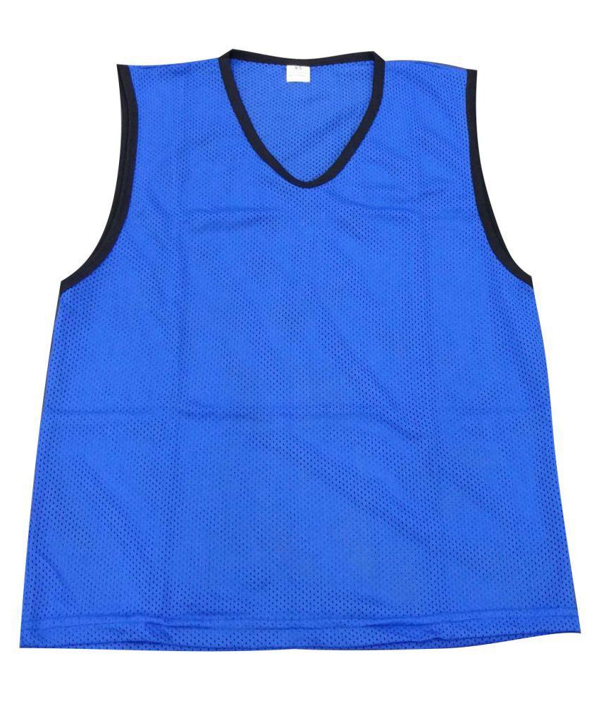 Wasan Training Mesh Bibs Small - Blue-(Pack of 12)