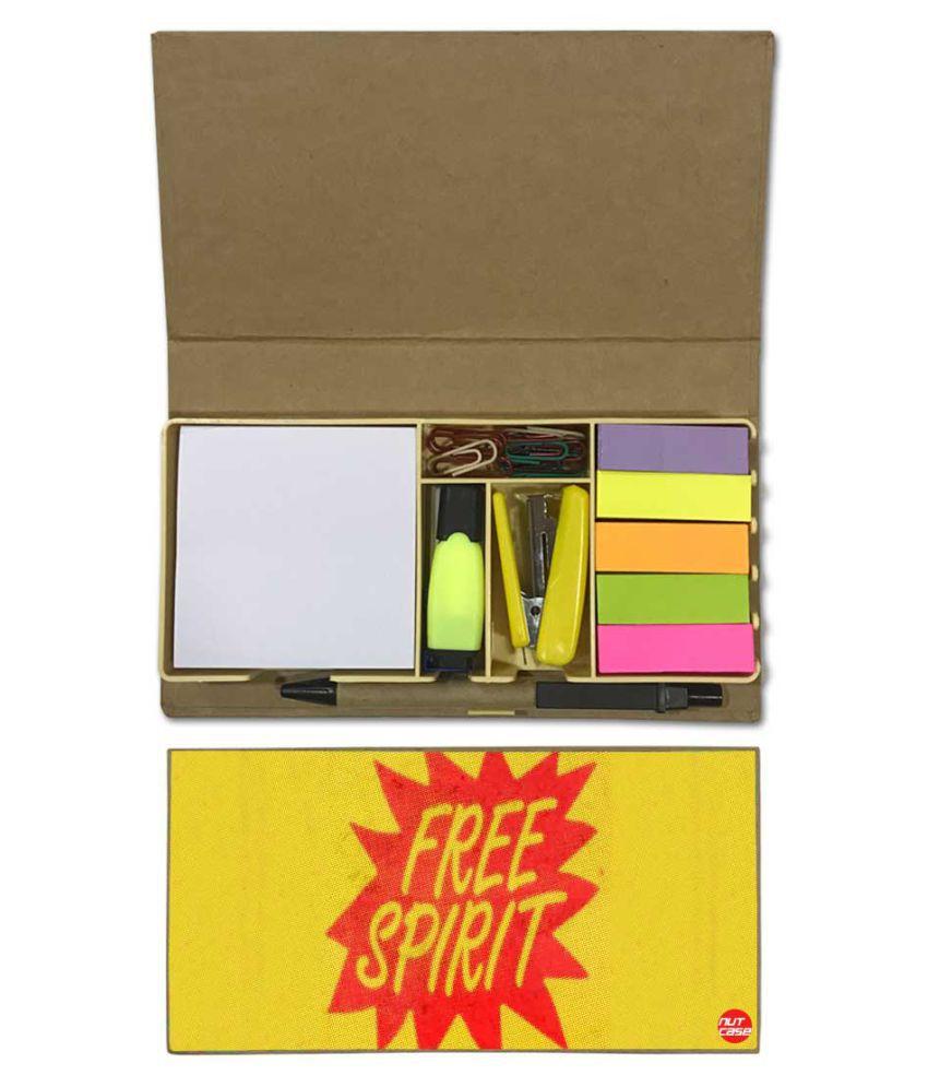 Nutcase Designer Stationary Kit Desk Organizer Memo Notepad - Free Spirit