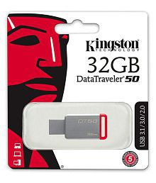 Kingston DT50 32GB USB 3.0 Utility Pendrive Pack of 1