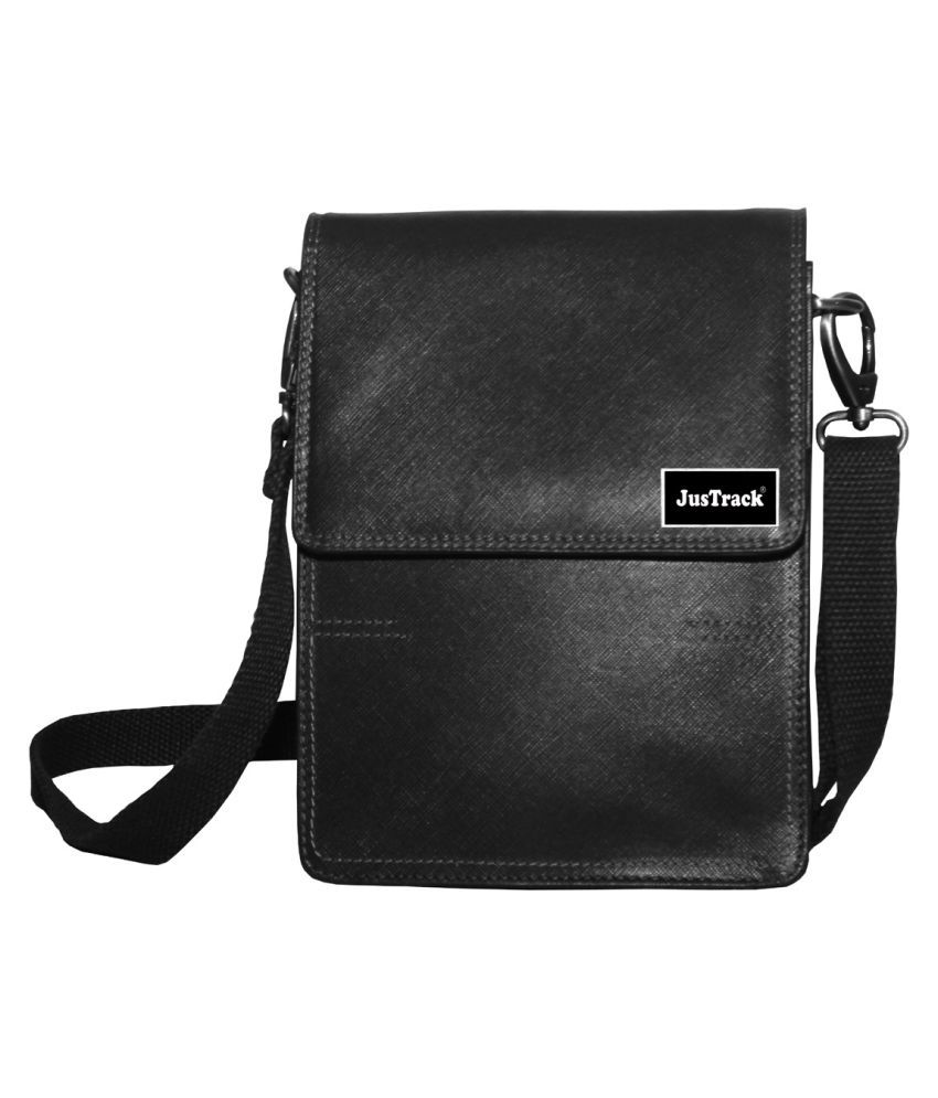 Justrack LSBU17-JT_4 Black Leather Casual Messenger Bag