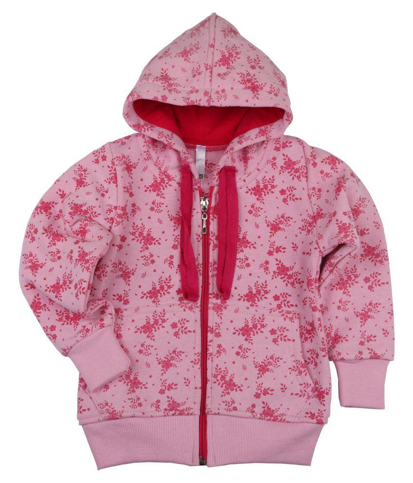 Floral Print Hooded Sweatshirt for Girls