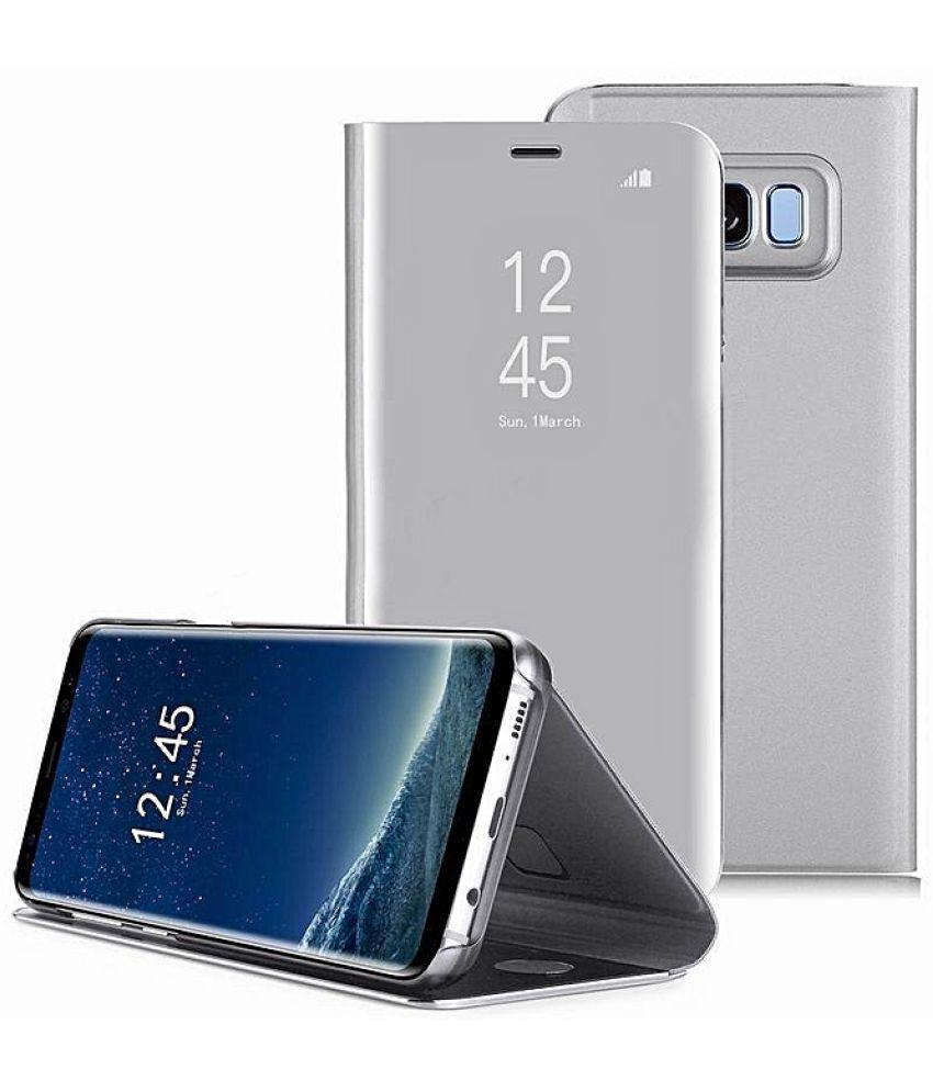 brand new d5dbe 4ac0b Samsung Galaxy A6 Plus Flip Cover by Genstyl - Silver