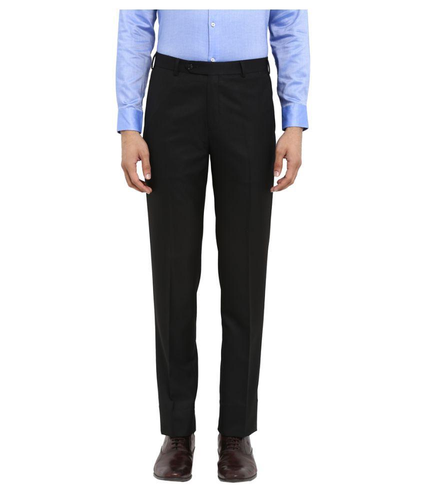Colorplus Black Regular -Fit Flat Trousers