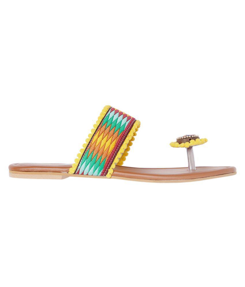 MARC LOIRE Yellow Slippers