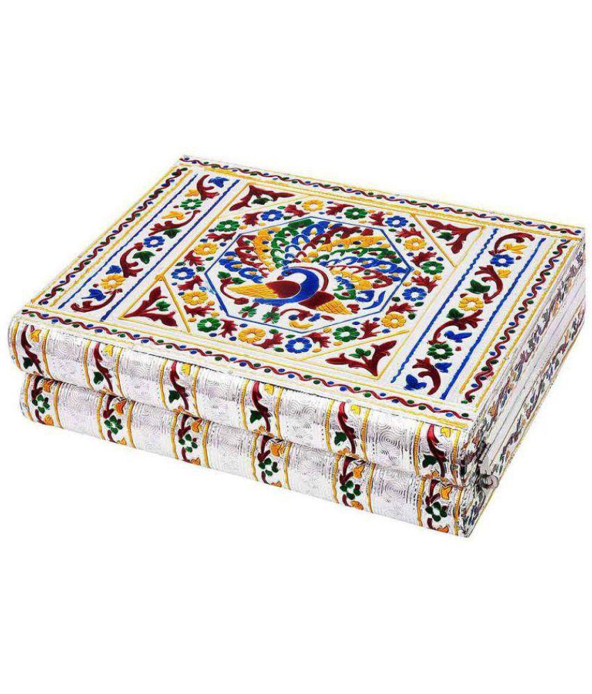 JaipurRaga Colorful Mayur Meenakari Work Red Jewellery Box