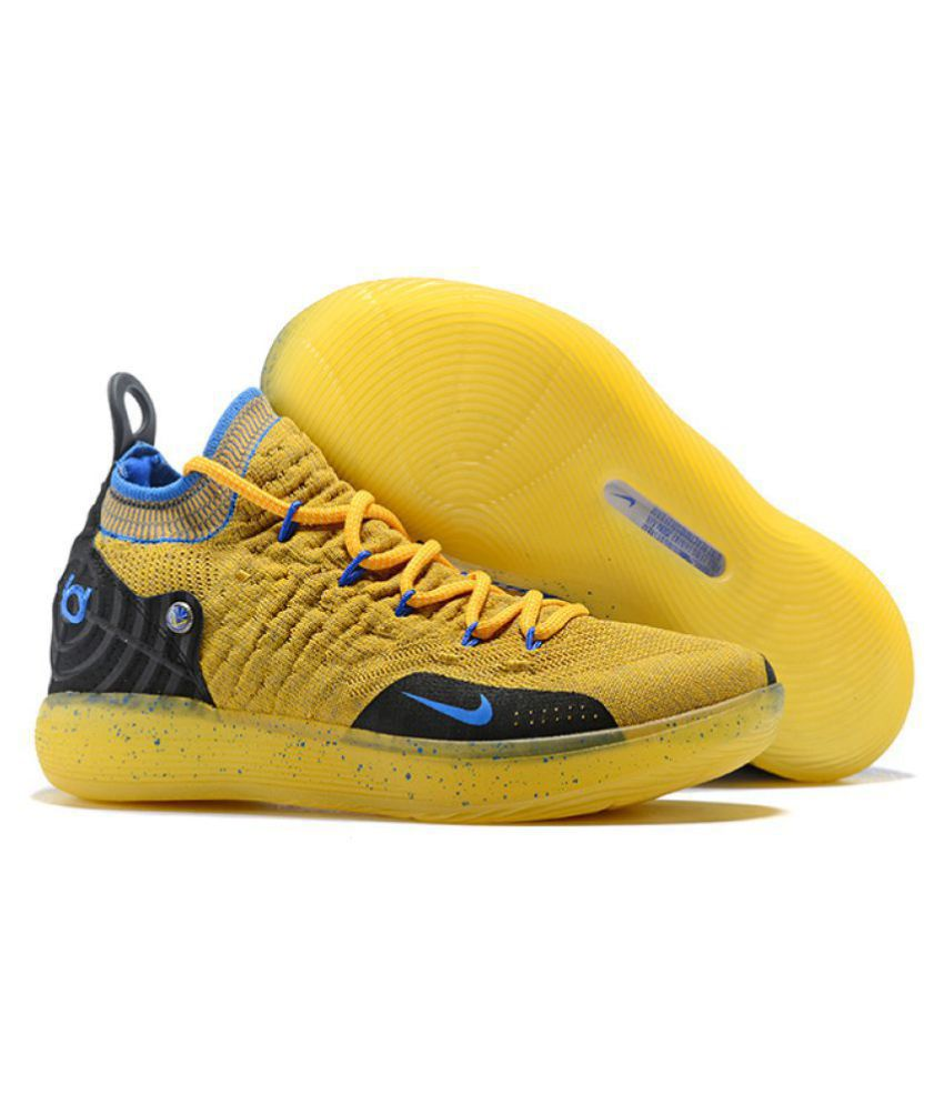 "eb9bef816 Nike Zoom KD 11 ""Warriors"" LTD 2018 Yellow Basketball Shoes - Buy Nike Zoom KD  11 ""Warriors"" LTD 2018 Yellow Basketball Shoes Online at Best Prices in  India ..."