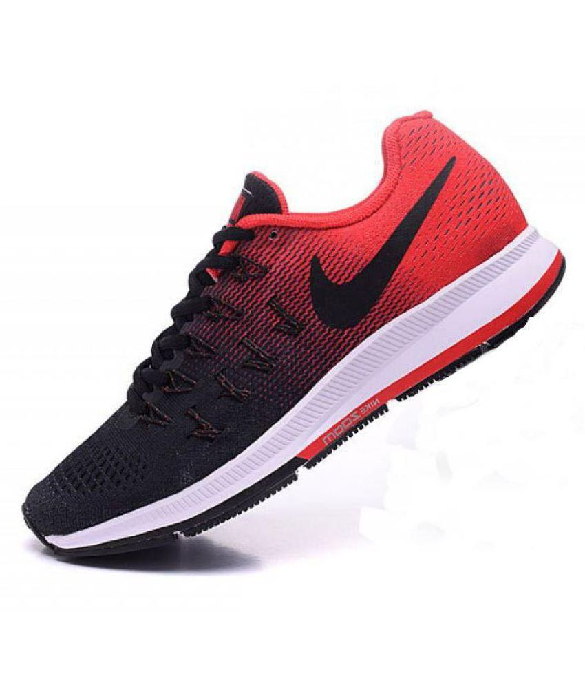 new style 66f25 fe84a Nike Air zoom 33 pegasus Pegasus 33 Black Red Black Running Shoes - Buy Nike  Air zoom 33 pegasus Pegasus 33 Black Red Black Running Shoes Online at Best  ...