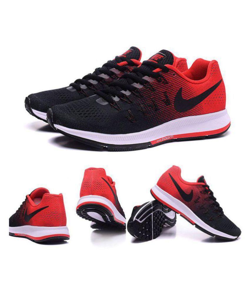 Nike Pegasus 33 Black Red Black Running Shoes